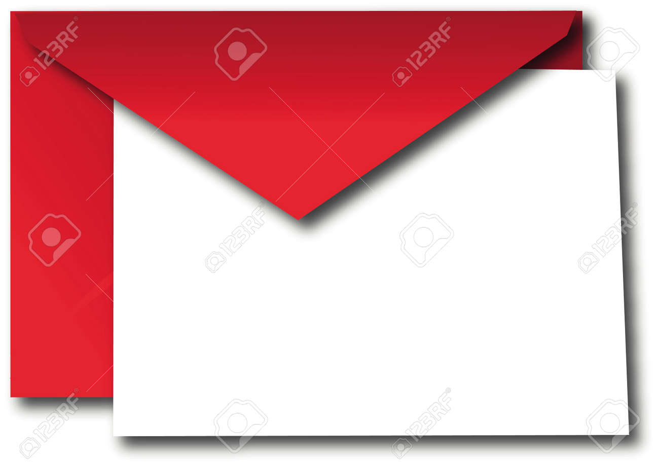 Red envelope with paper Stock Vector - 14523698
