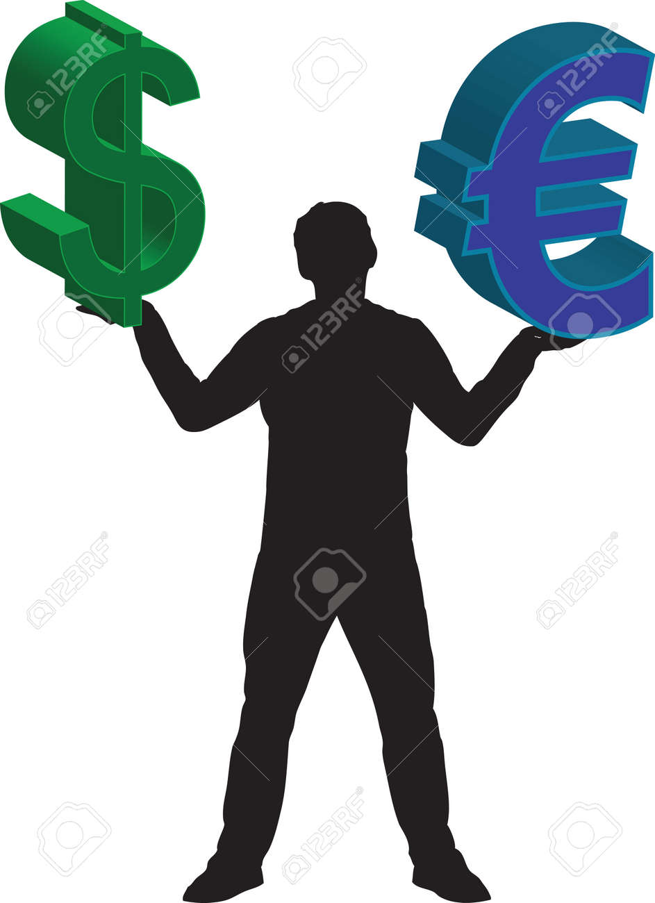 Dollar and euro Stock Vector - 14649140