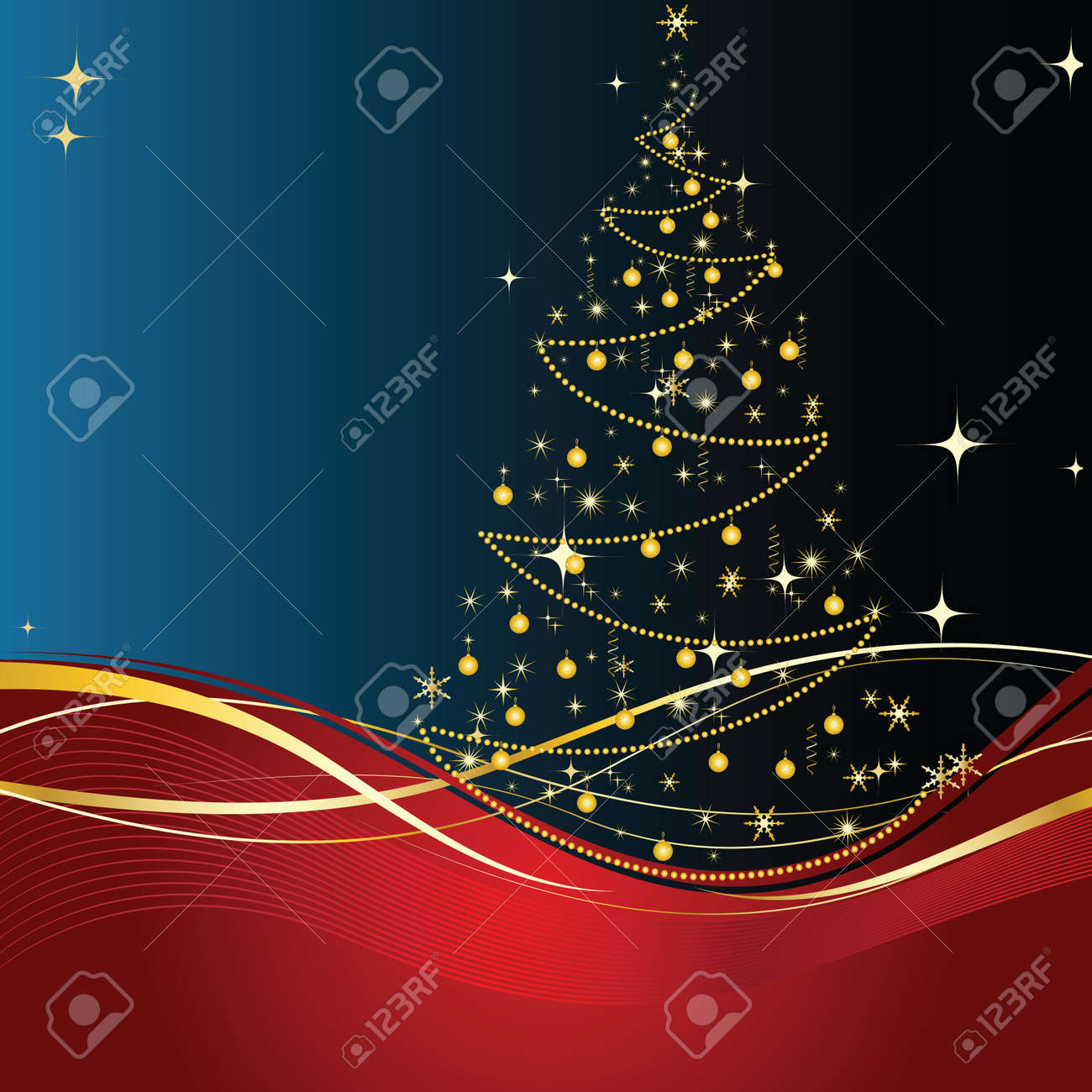 Merry Christmas and happy new year background and decoration Stock Vector - 14833398