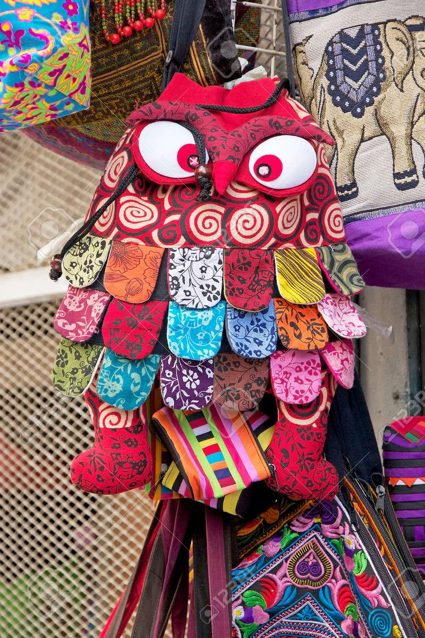 Amazing Bag For Sale At The Bogyoke Aung San Market Yangon Stock