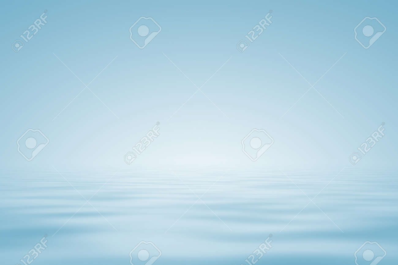 Abstract background in light blue. Water horizon. Stock Photo - 14411851