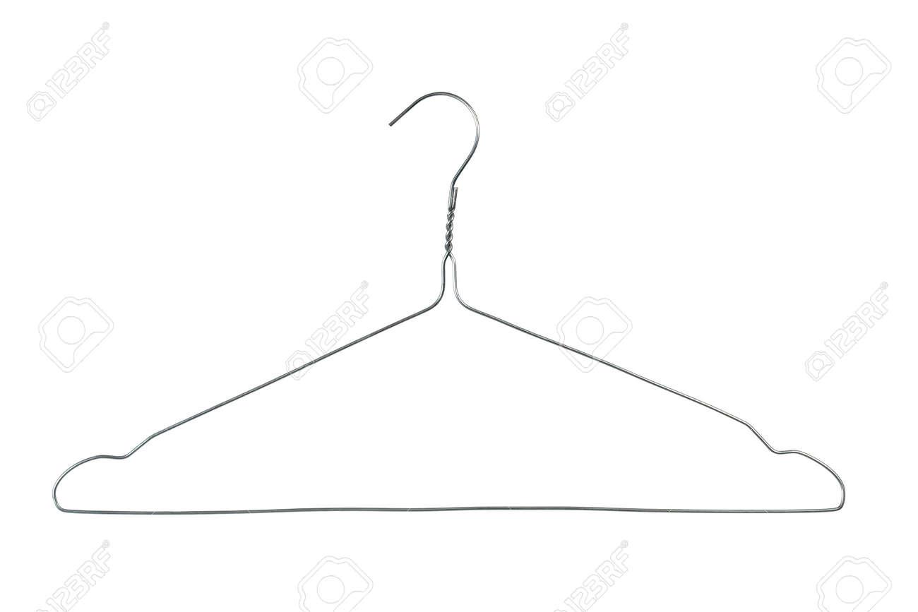 Wire Coat Hanger   Wire Coat Hanger Isolated On White Background Lizenzfreie Fotos