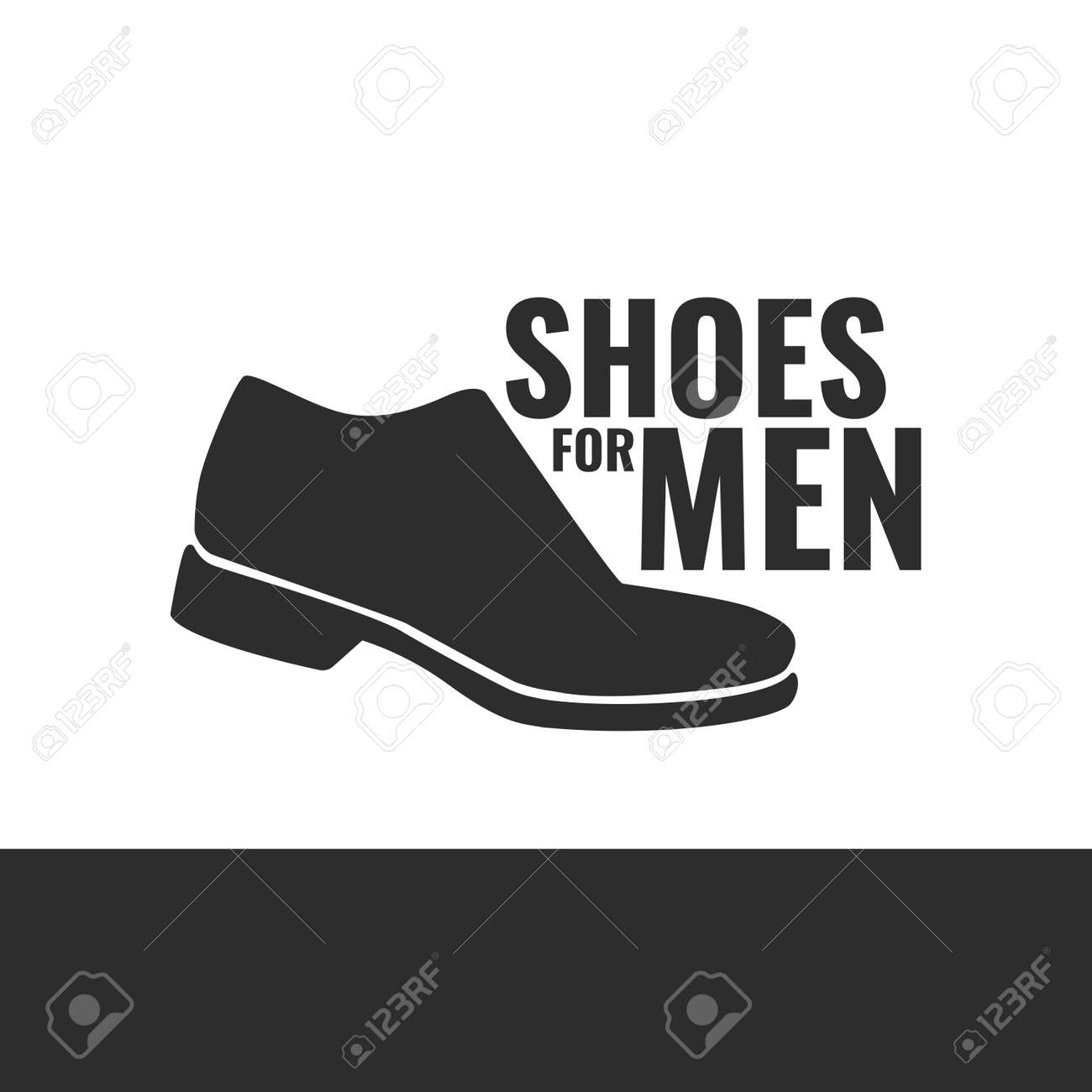 38cf8299 Vector Icon Of Men's Shoes. Logo For The Shoe Store. Royalty Free ...