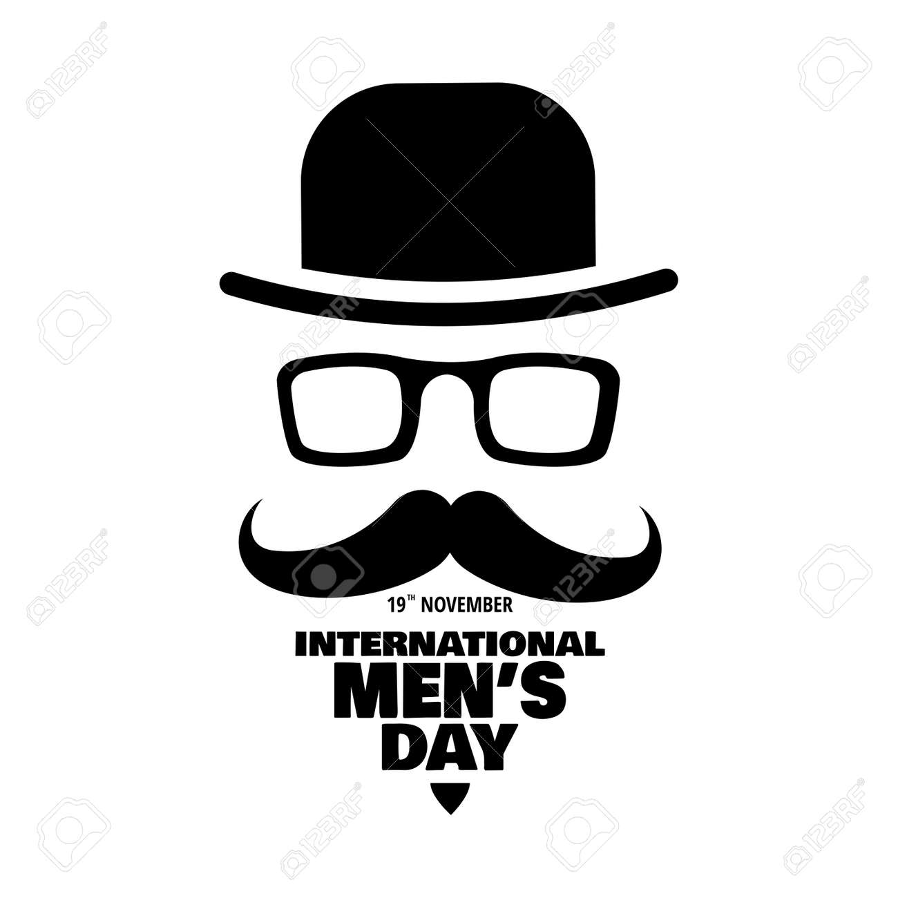 Vector illustration on the theme International Men's Day. For a poster or banner and greeting card. - 108558584