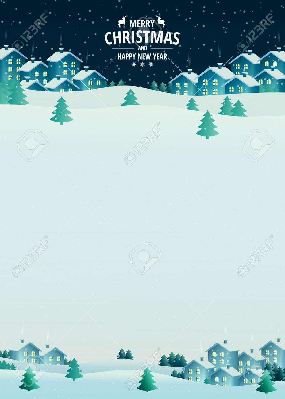 Vector Illustration On The Theme Of Christmas And New Year Christmas