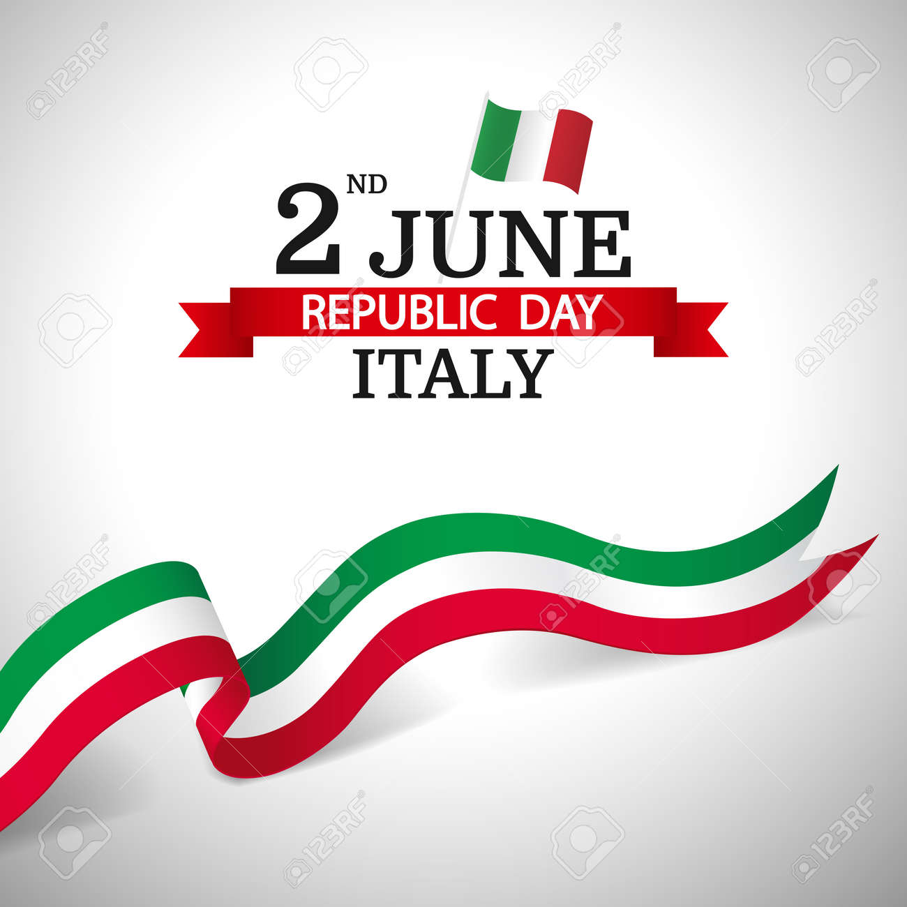 Vector Illustration of Republic Day Italy - 168190966