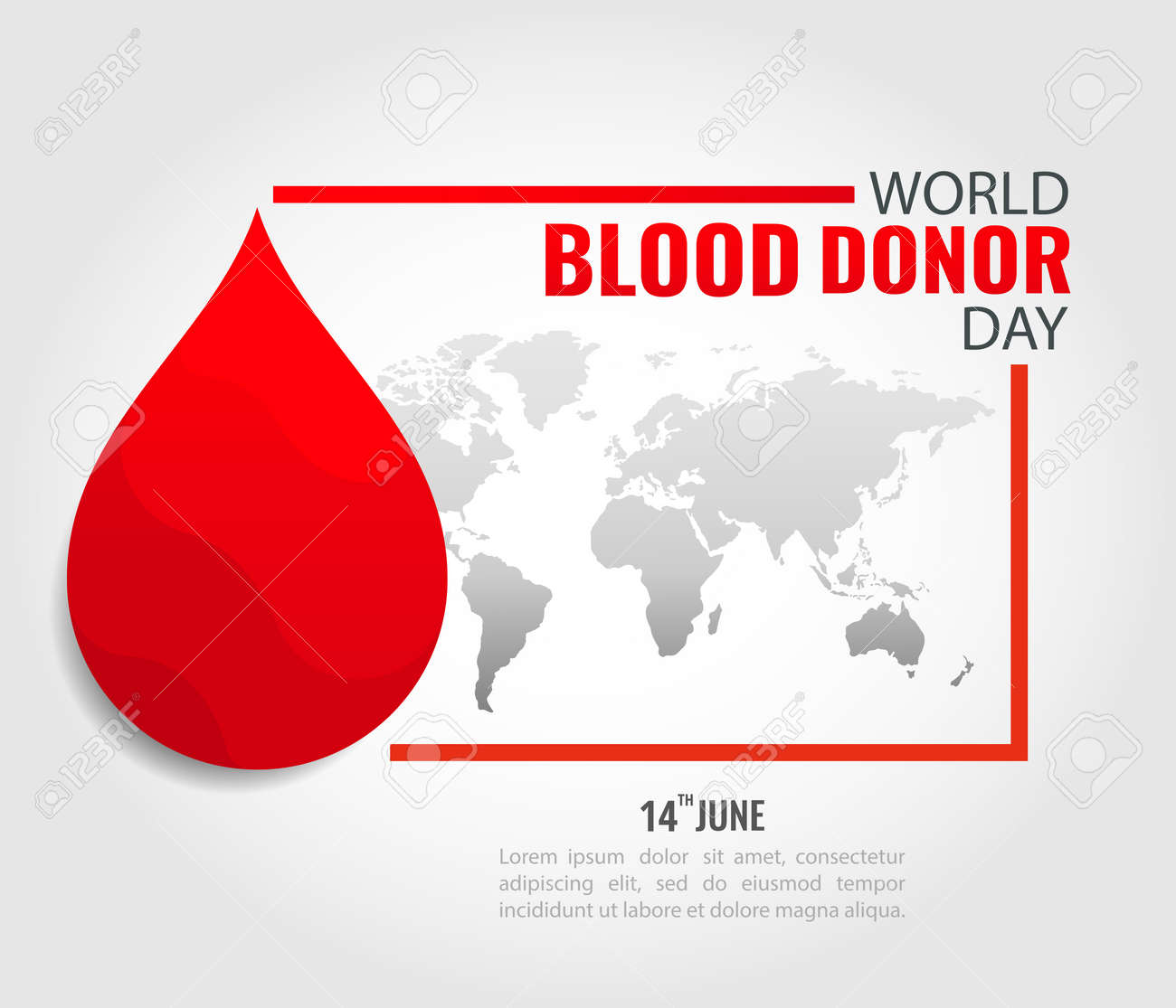 Vector Illustration of World Blood Donor Day - 168191067