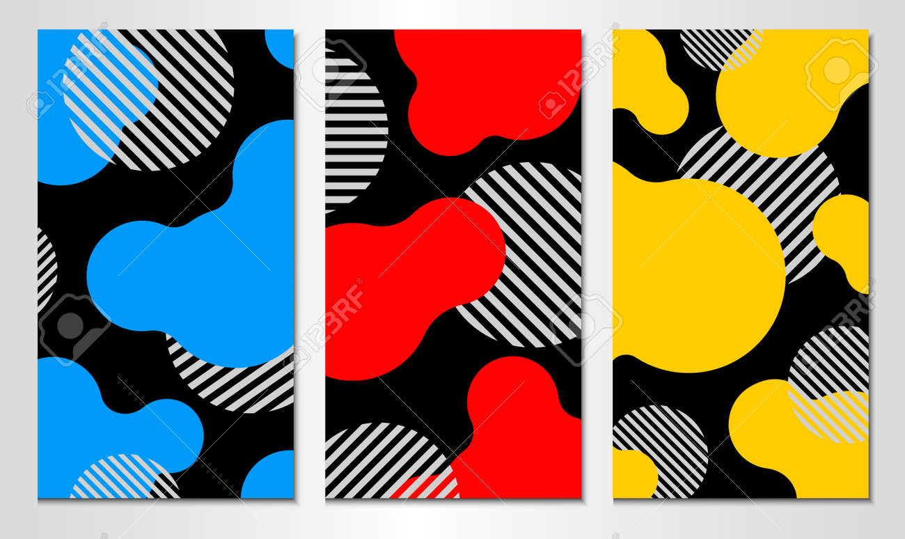Set of abstract cover template. Vertical design. - 168191080