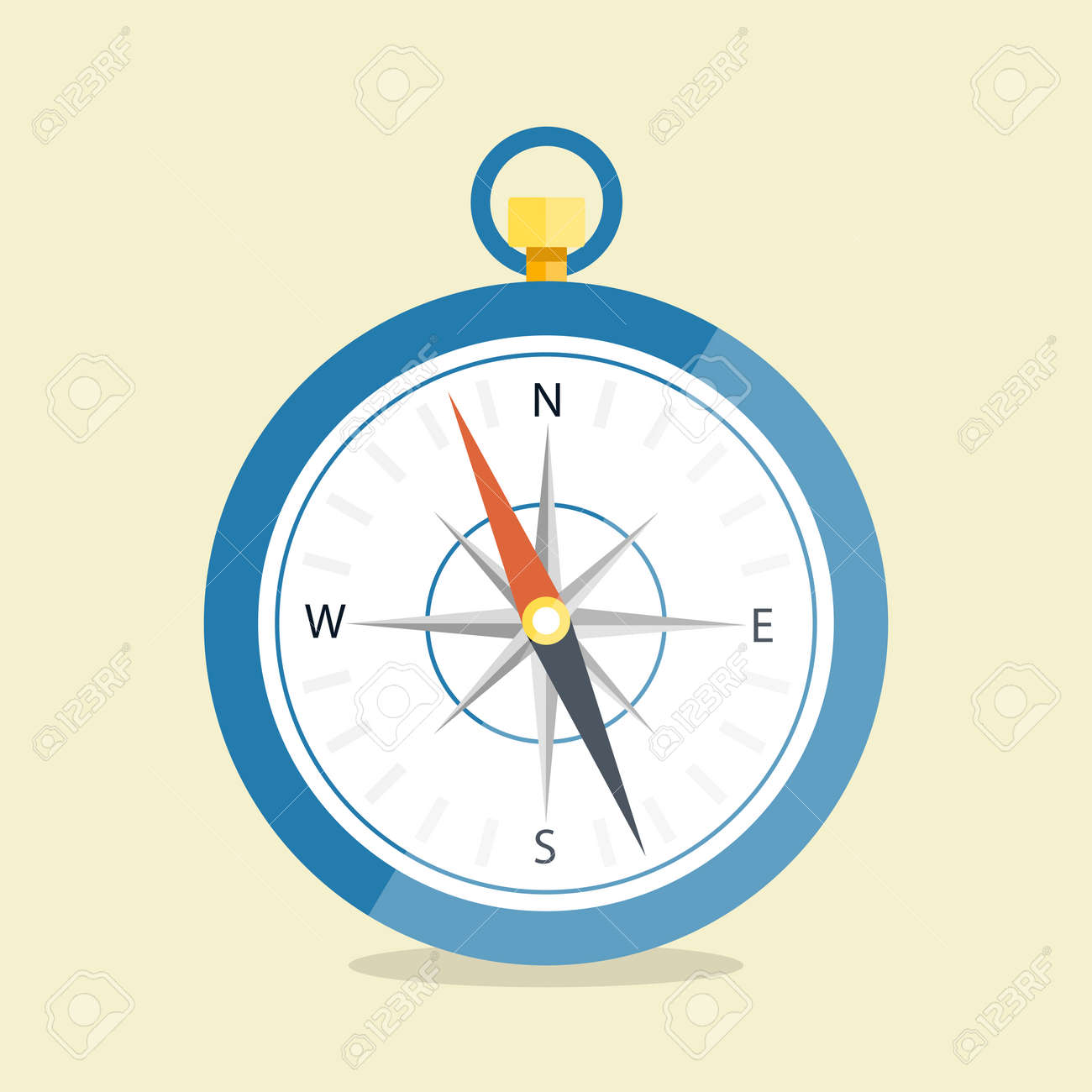 Vector illustration. Compass are isolated on a simple background. Flat style - 169208318