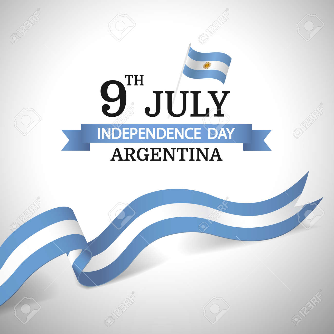 Vector Illustration of Independence Day of Argentina. - 169318181