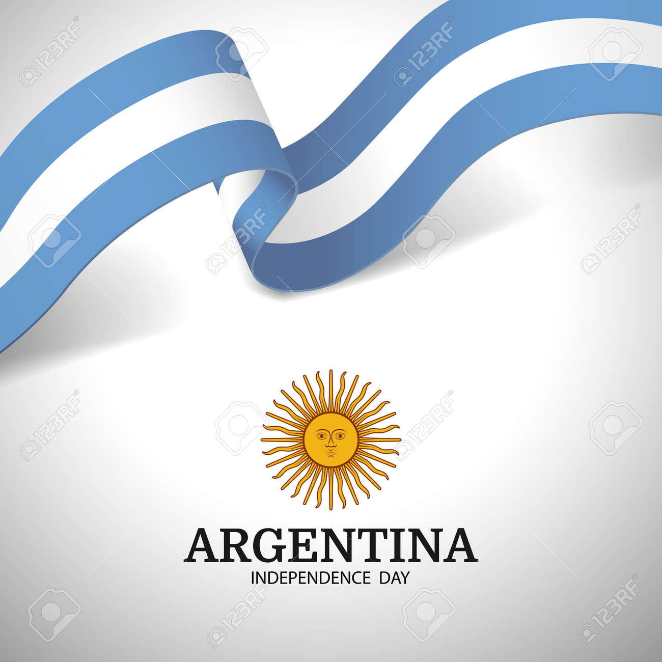 Vector Illustration of Independence Day of Argentina. - 169318185