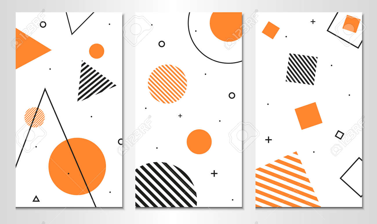 Set of abstract banner template. Vertical design. - 169318186