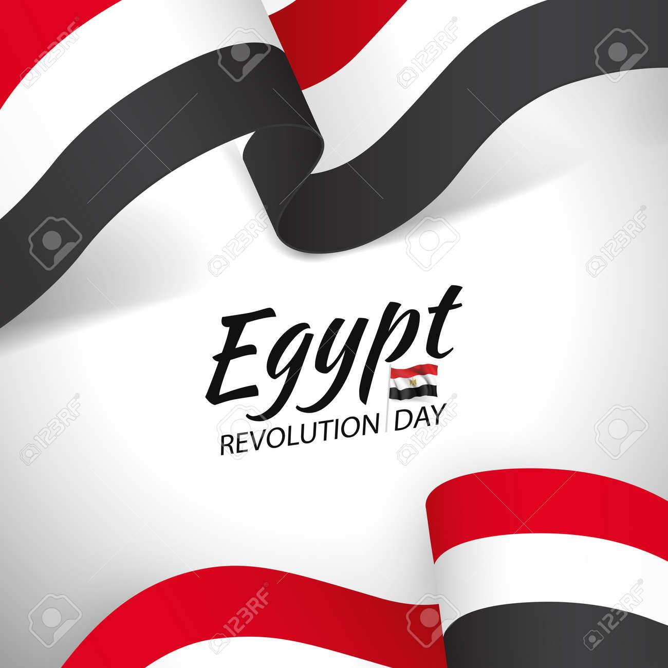 Vector Illustration of Revolution Day Egypt. - 170364549