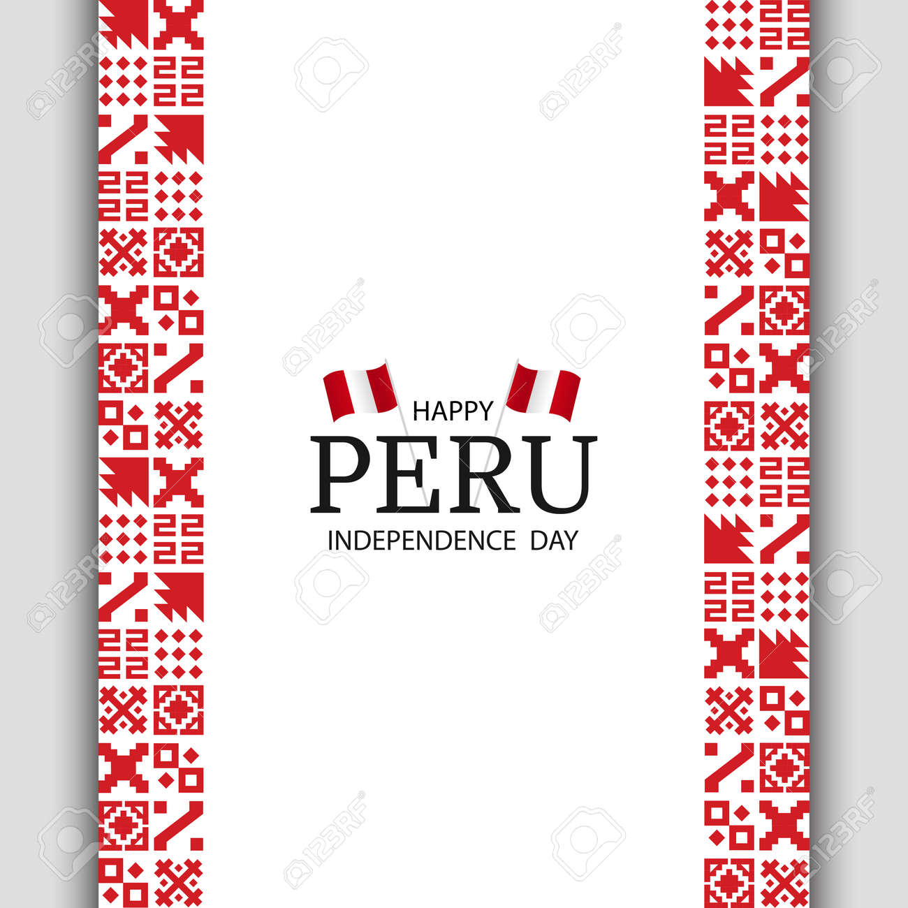 Vector Illustration of Peru Independence Day. National pattern. - 170364557