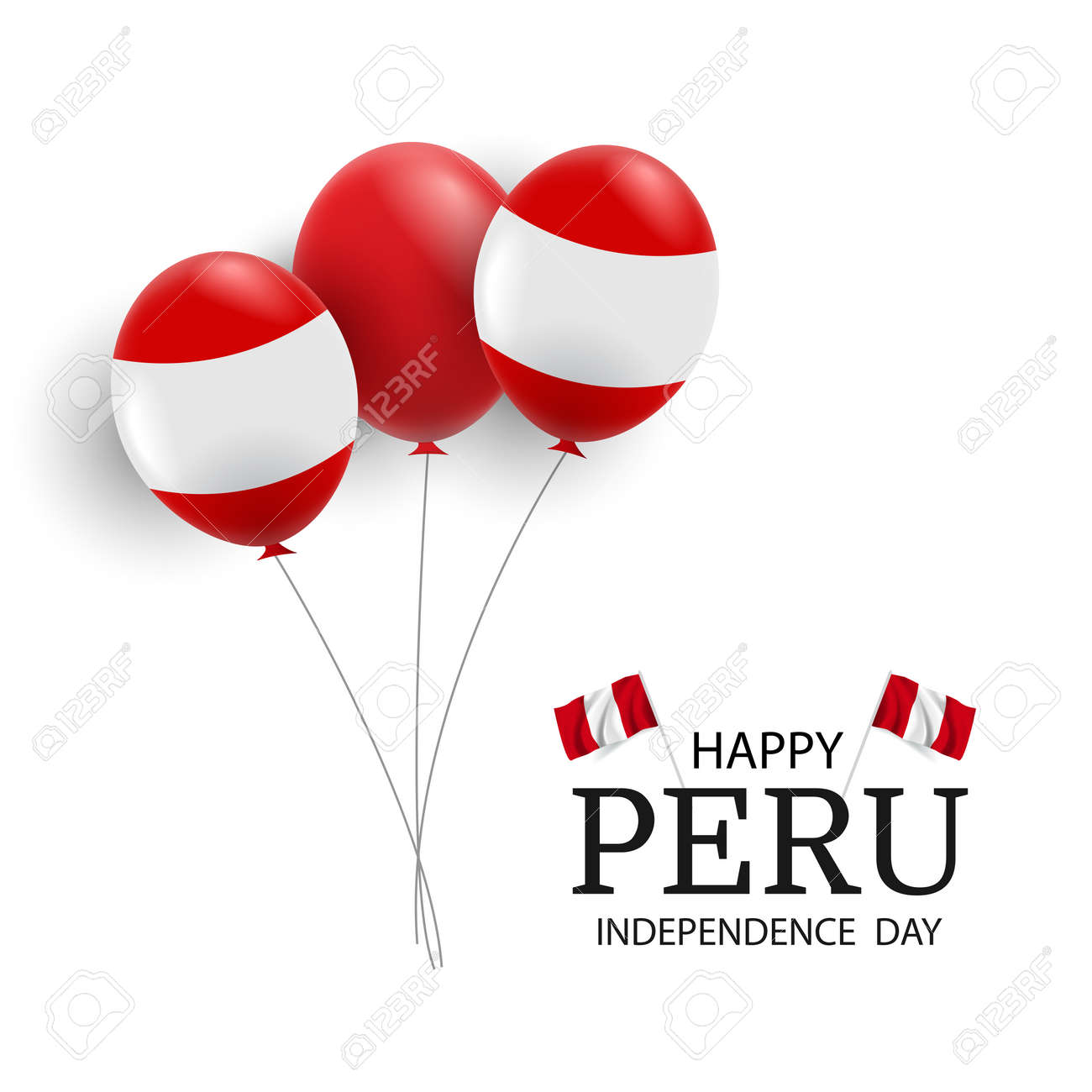 Vector Illustration of Peru Independence Day. - 170364718