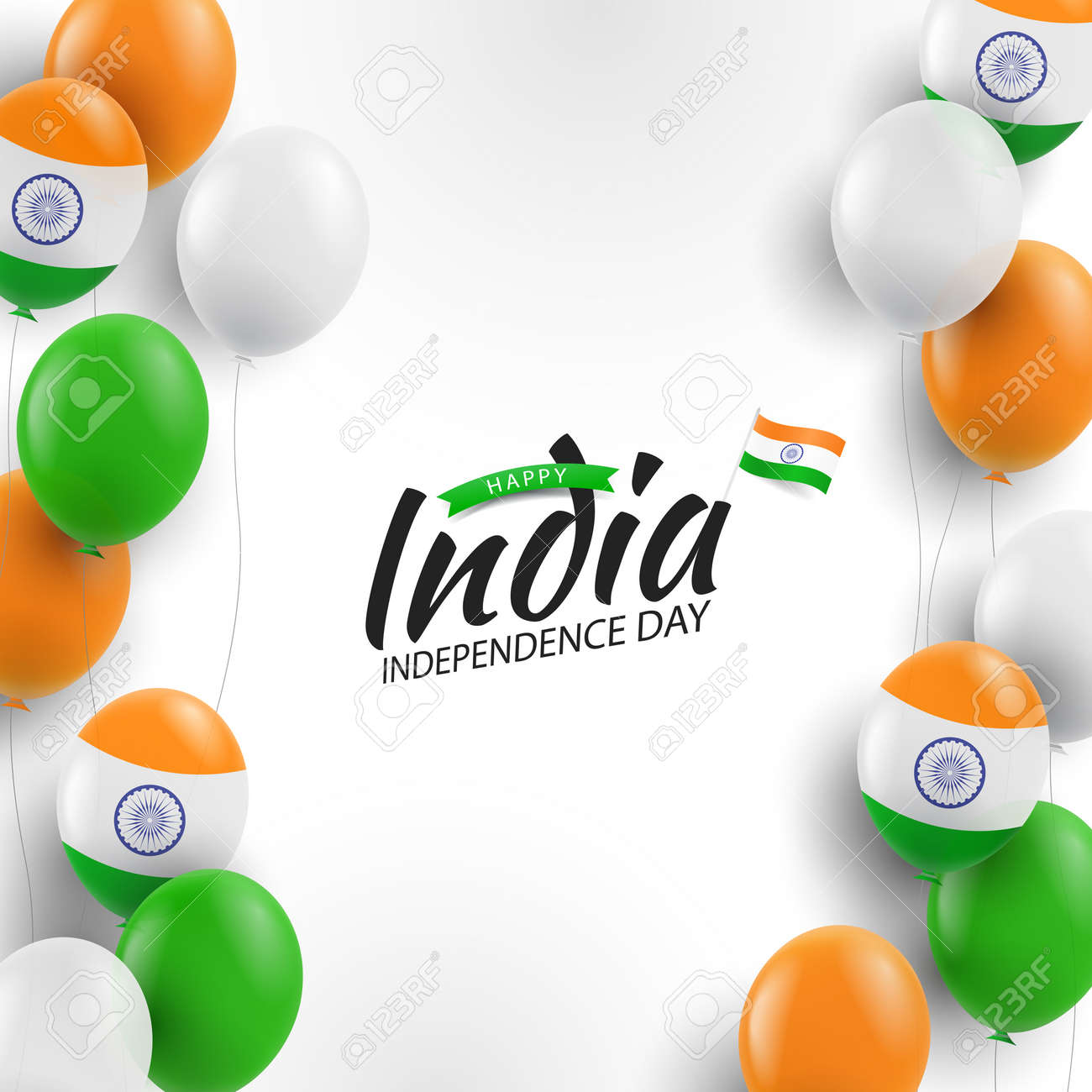 Illustration of India Independence Day. - 171112556