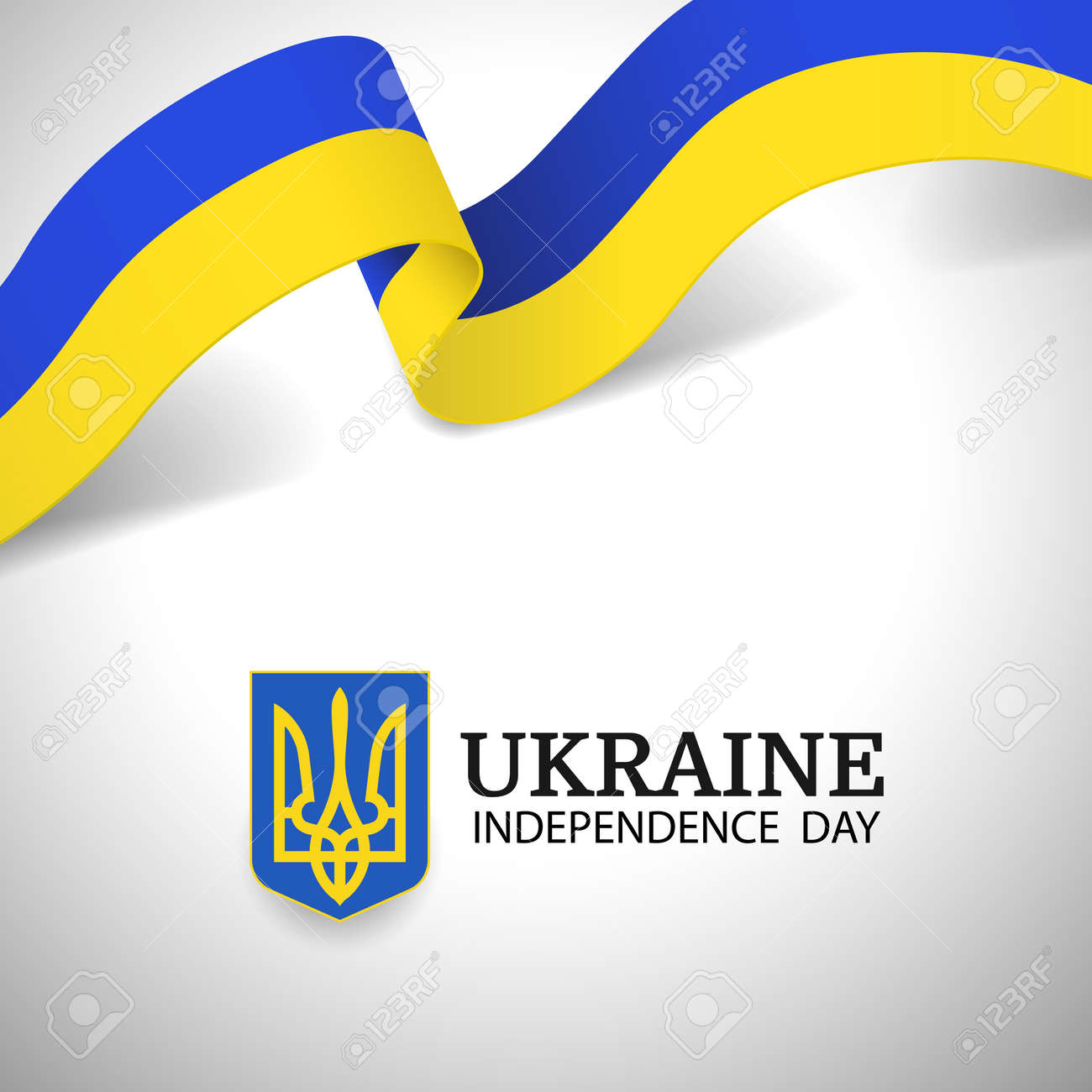 Vector Illustration of Ukraine Independence Day. - 170744764