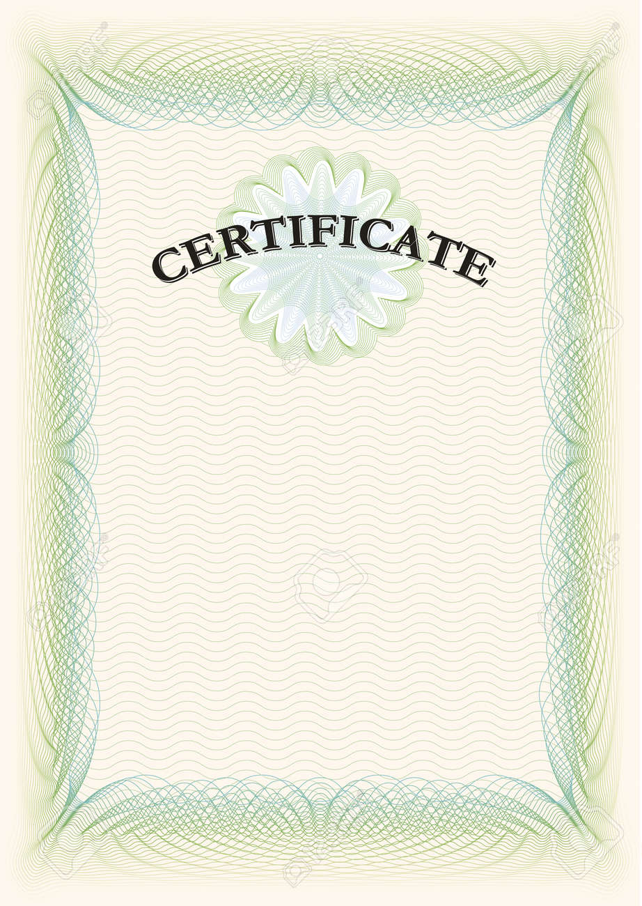 Certificate Portrait Format Royalty Free Cliparts, Vectors, And ...