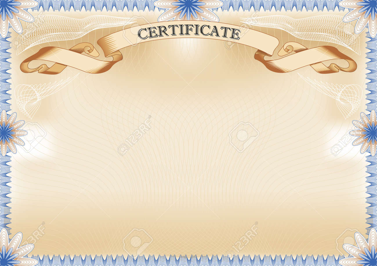Certificate Landscape Format Royalty Free Cliparts, Vectors, And ...