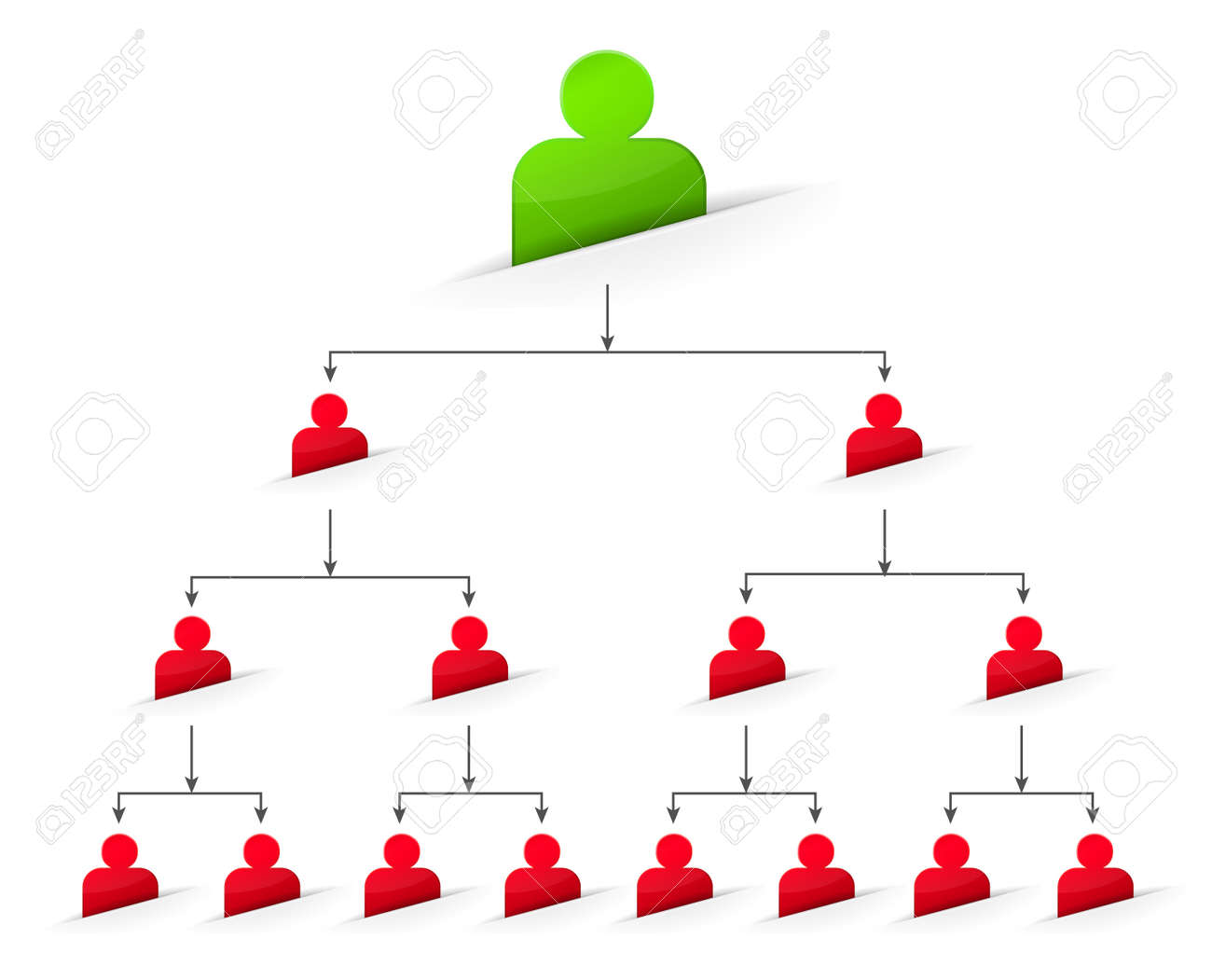 Office Organizational Corporate Hierarchy Tree Chart Of A Company - People  Symbol. Royalty Free Cliparts, Vectors, And Stock Illustration. Image  29653932.