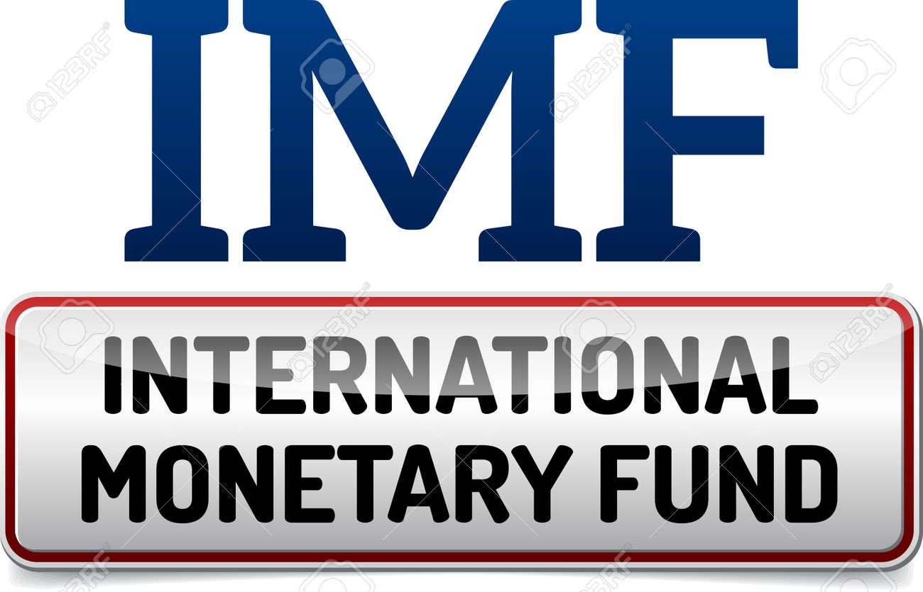 IMF 国際通貨基金 - イラスト ボード反射と白の背景に影のイラスト素材 ...