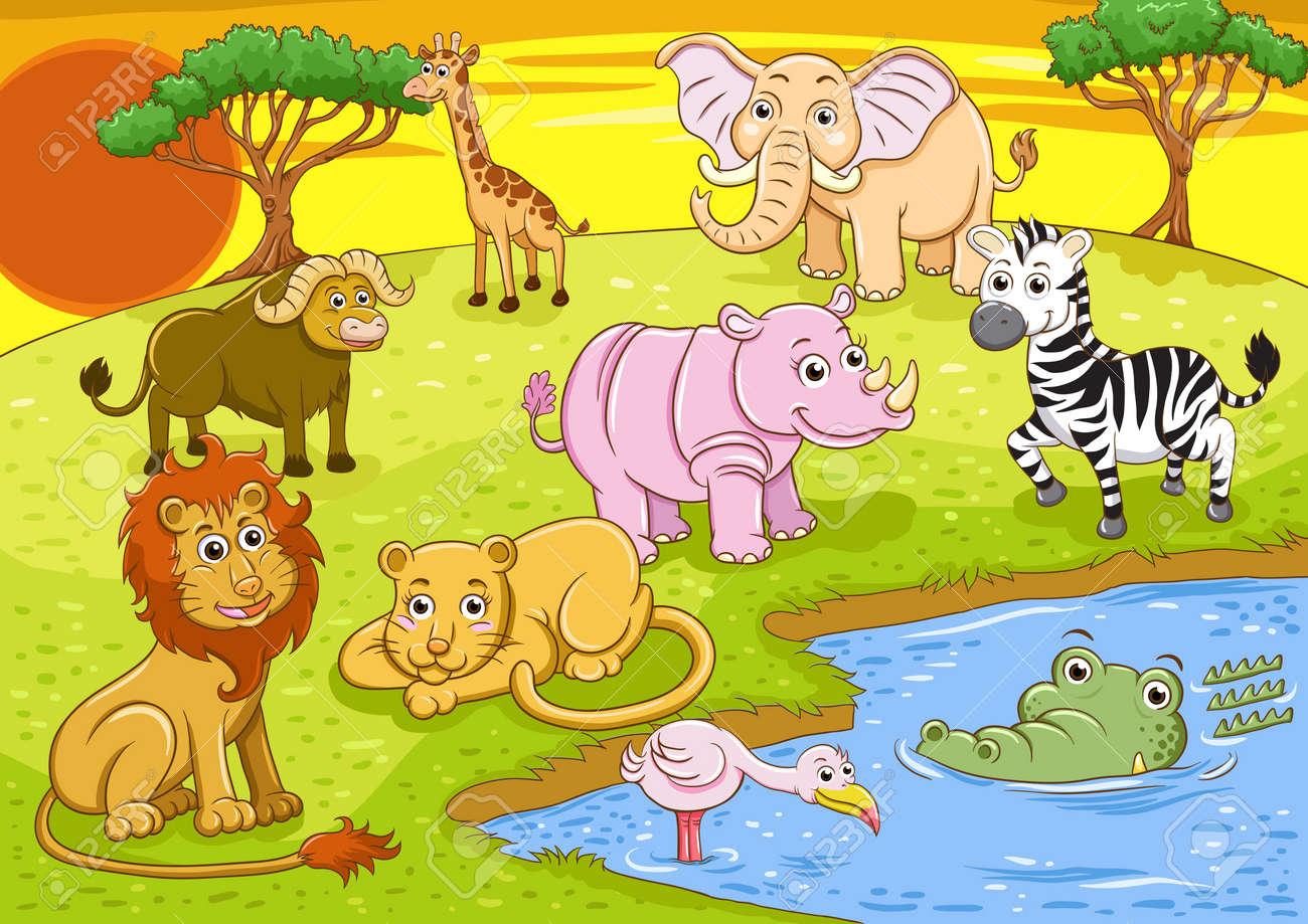 group of african safari animal Stock Photo - 15491285