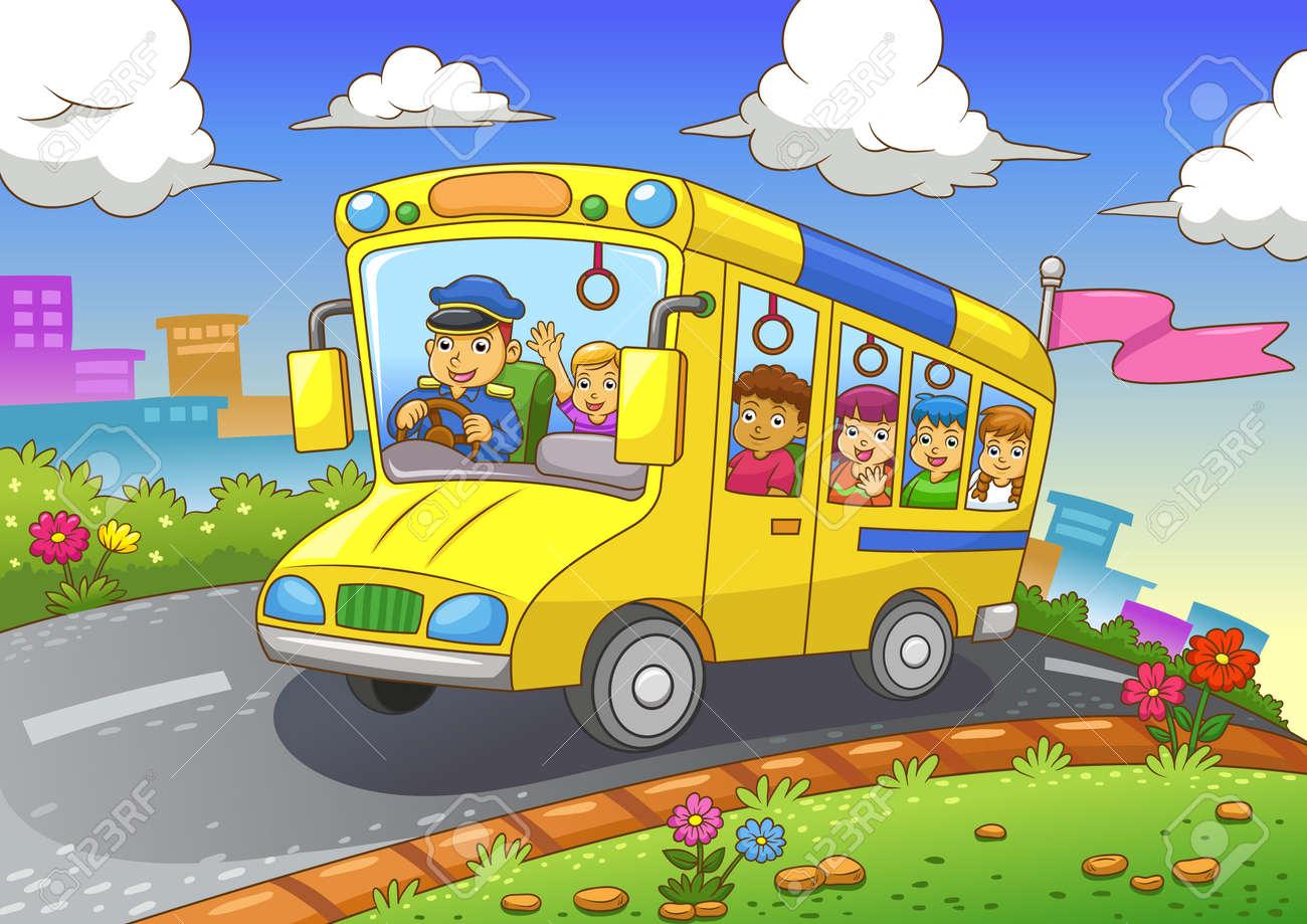 School Bus Eps10 File Simple Gradients All In Separate Layer