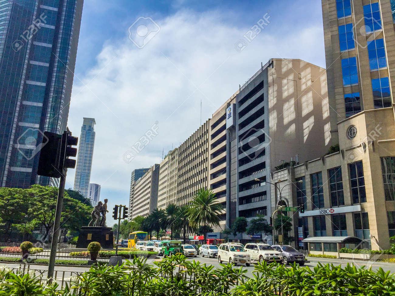 Makati, Philippines - July 19, 2015 : Makati city, Manila  Makati