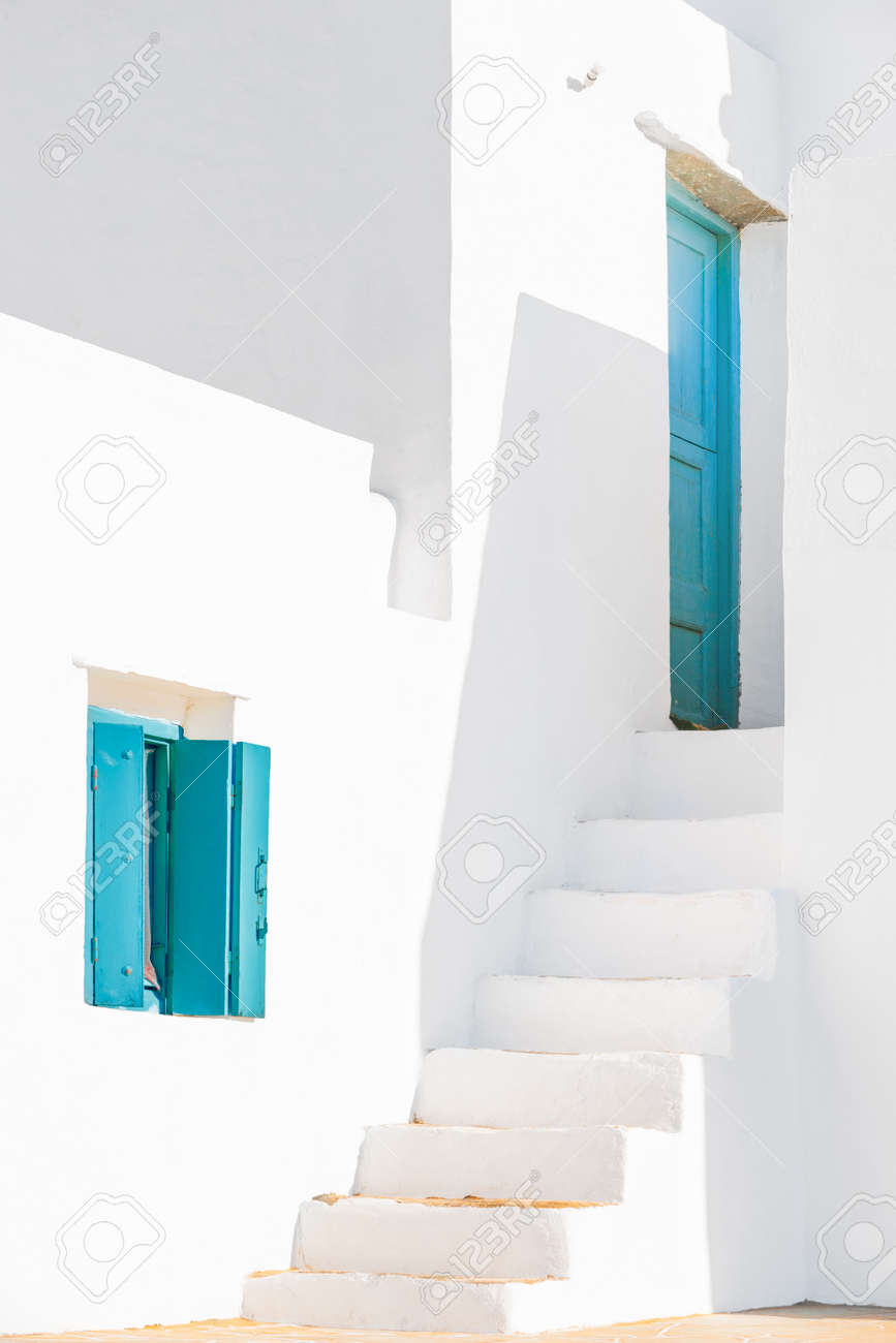Detail from a typical traditional house in Sifnos island, Greece. Stock Photo - 15124799