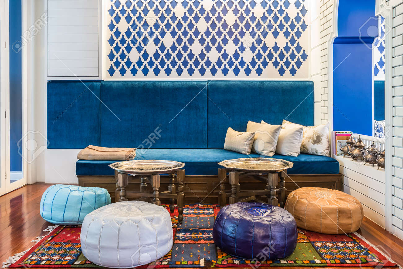 Moroccan Style Living Room Stock Photo   30692918