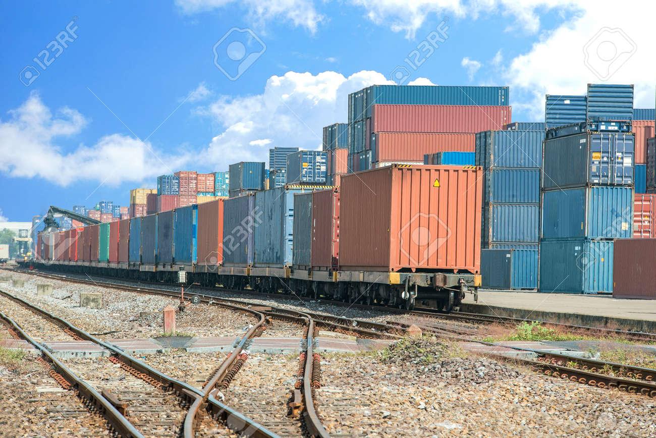 cargo train stock photos u0026 pictures royalty free cargo train