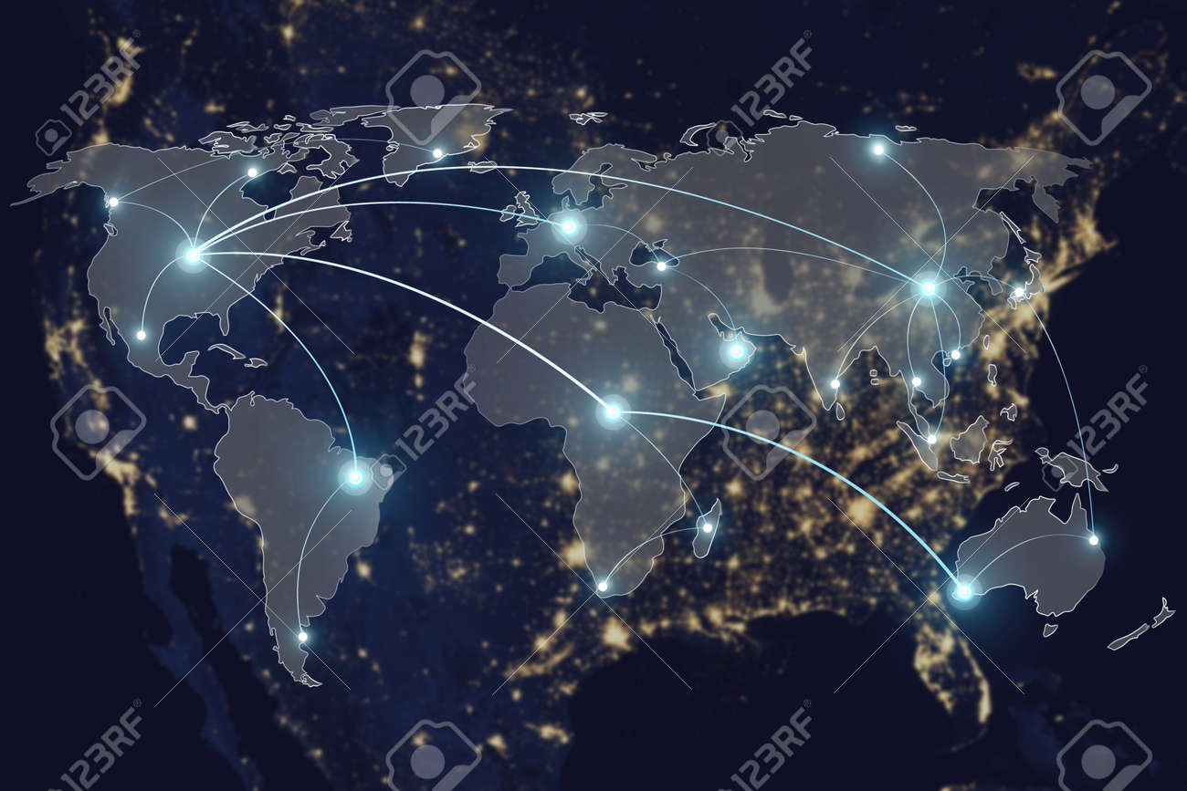 Network connection technology concept network connection network connection technology concept network connection partnership and world map elements of this image gumiabroncs