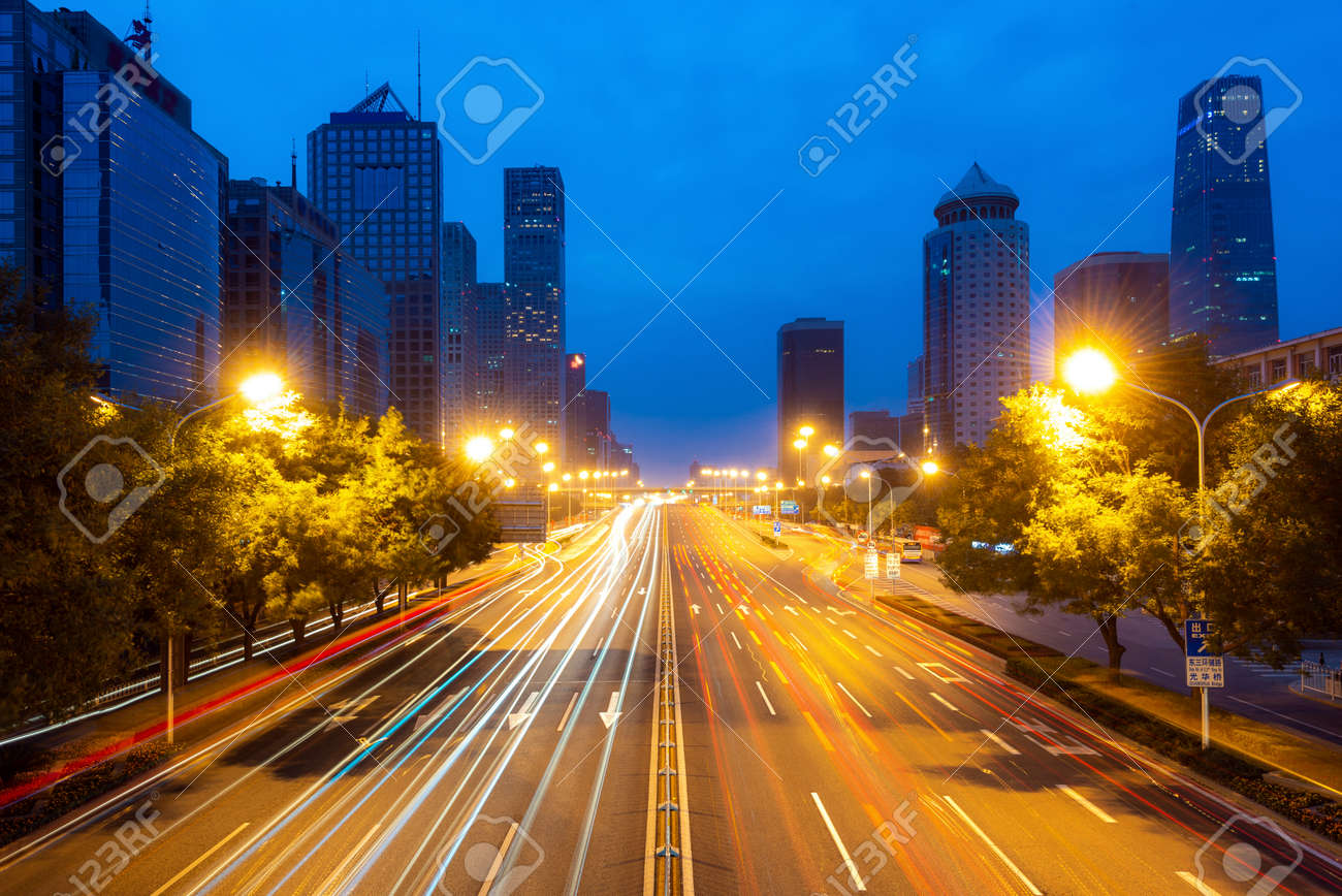 Beijing skyline at Chaoyang central business district in Beijing, China. - 126104858