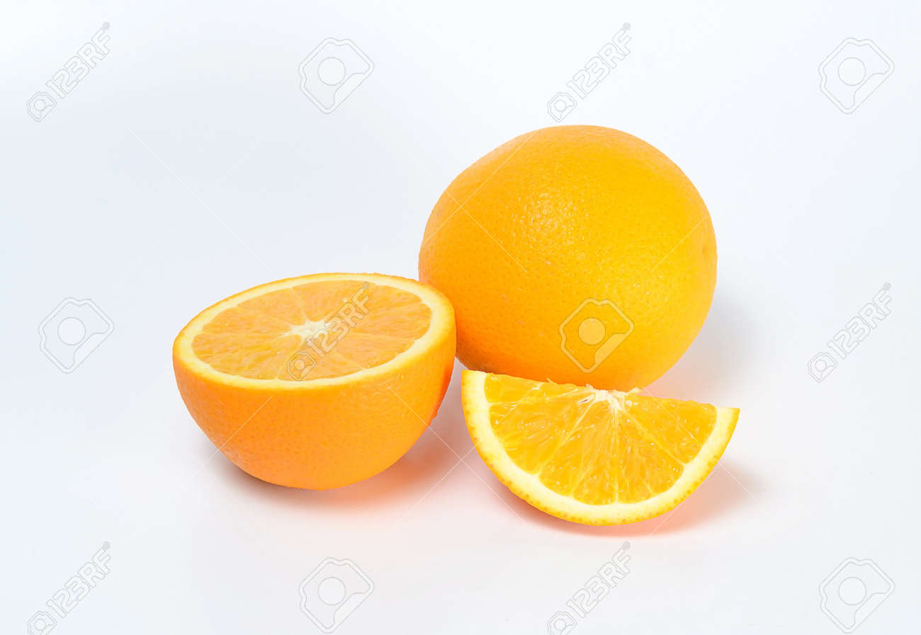 orange on white background Stock Photo - 16308947
