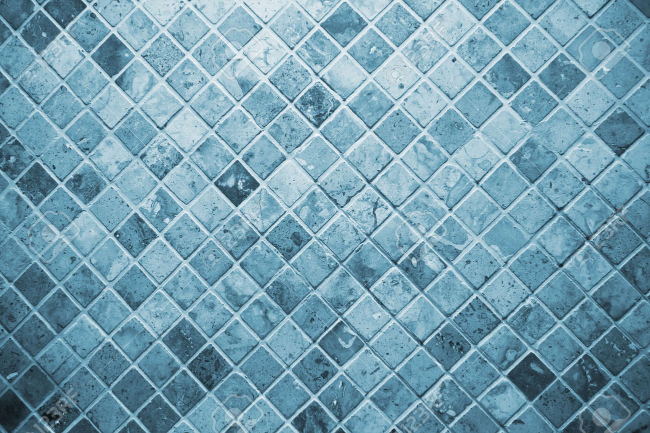 Tile, Blue Square Tile Toilet Wall. Stock Photo, Picture And ...