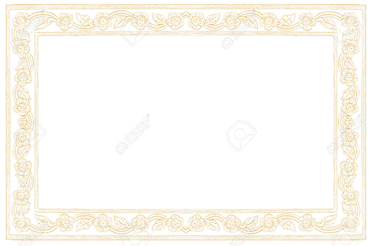 paper frame, formal cream letter paper with Thai nice frame style