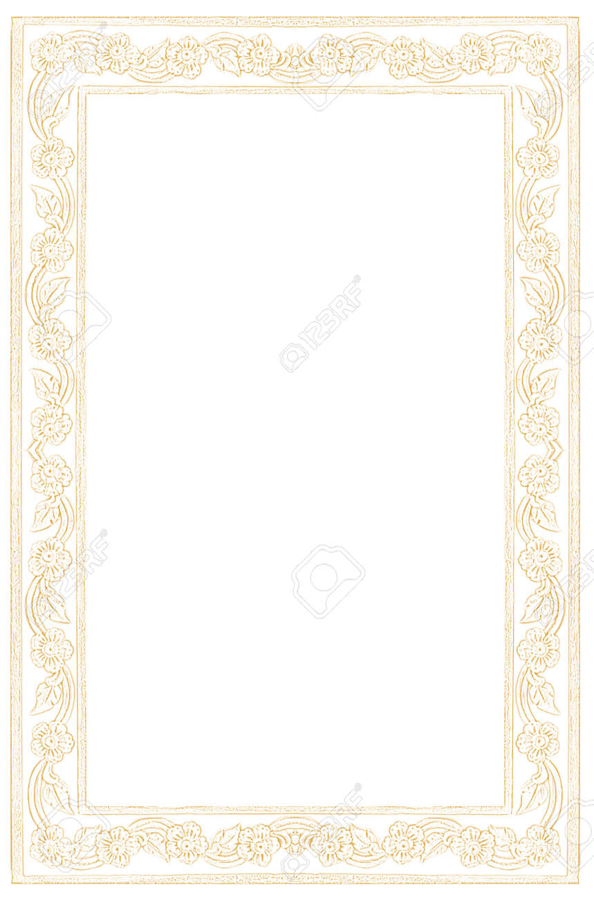 Paper Frame, Formal Cream Letter Paper With Thai Nice Frame Style ...