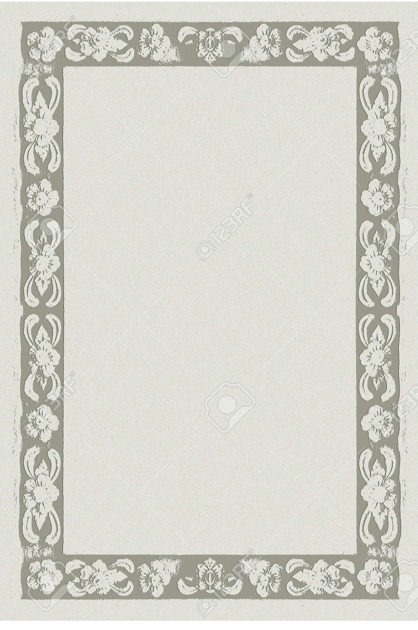 paper frame, formal letter paper with Thai nice frame style