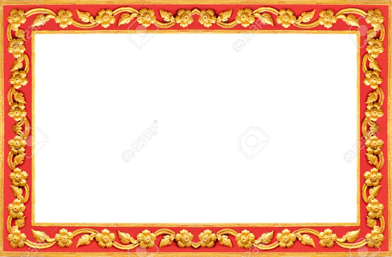 723c26c6a297 Thai Frame, Thai Style Red And Gold Painted Wood Frame Stock Photo ...
