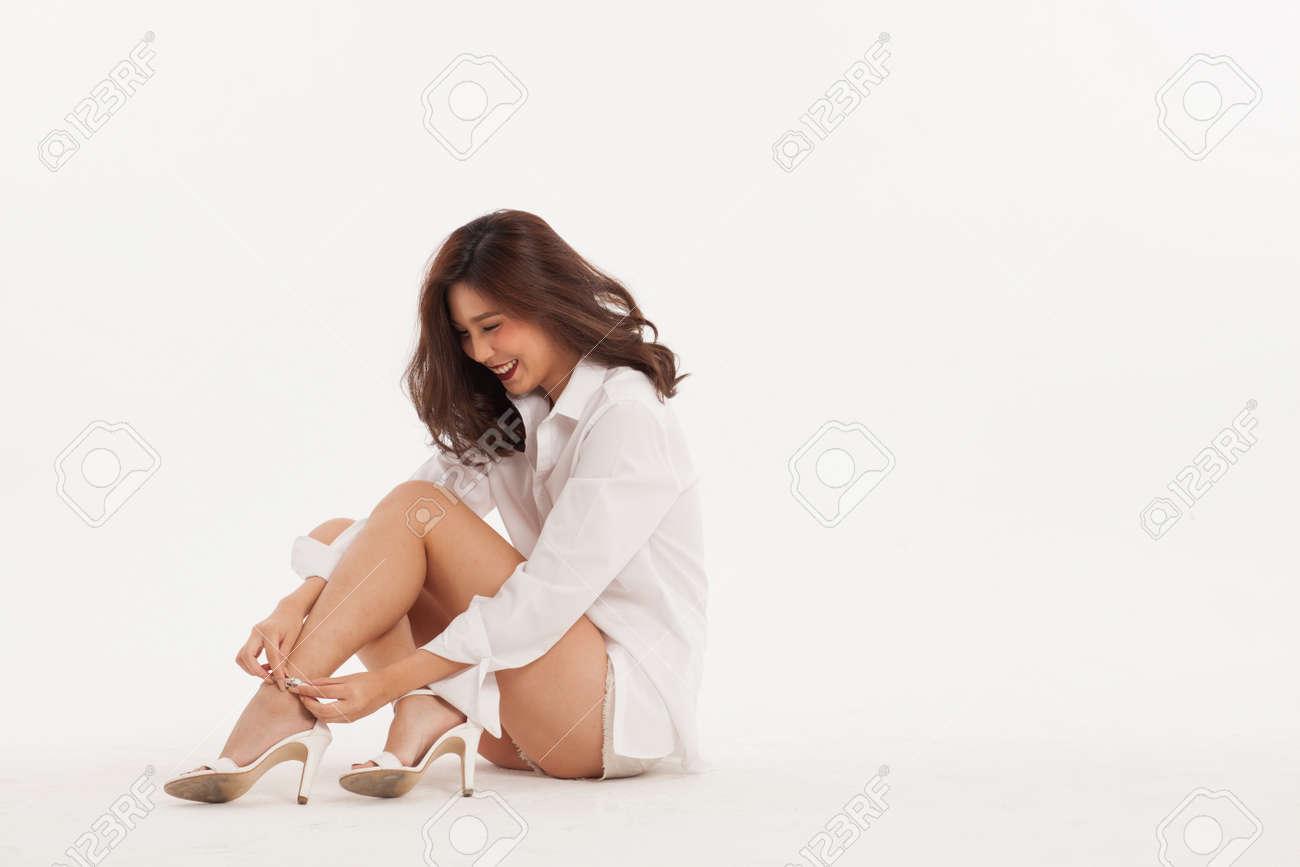 Asian girl sexy shoe