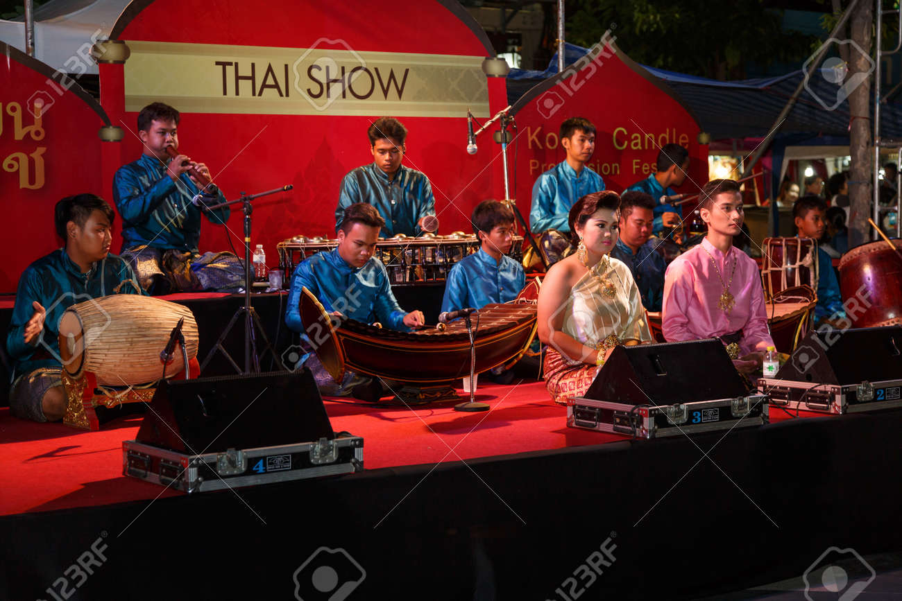 NAKHON RATCHASIMA, THAILAND - JULY 11: A group of Thai music