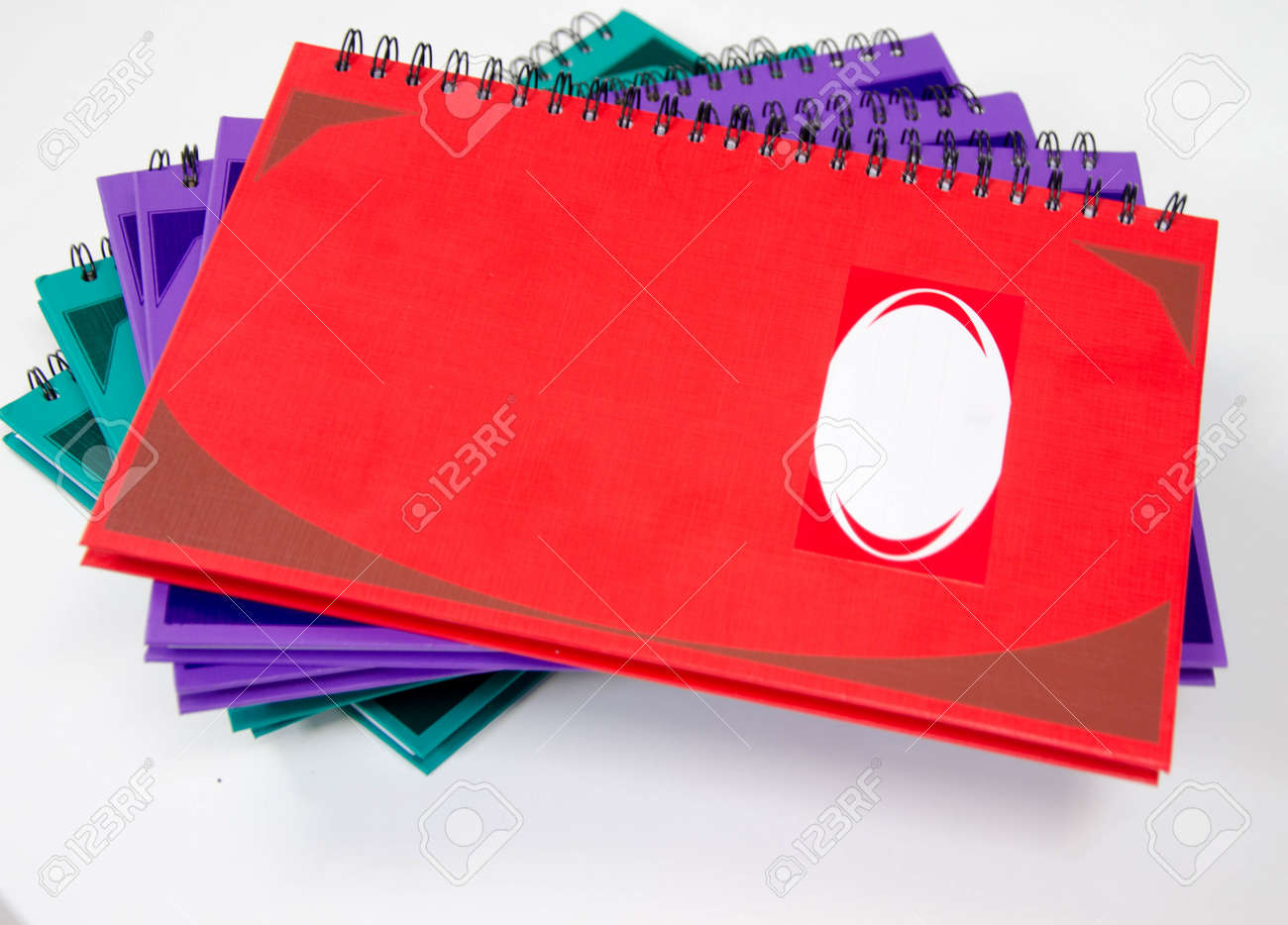 Color Note Ring Book On White Table Stock Photo, Picture And Royalty ...