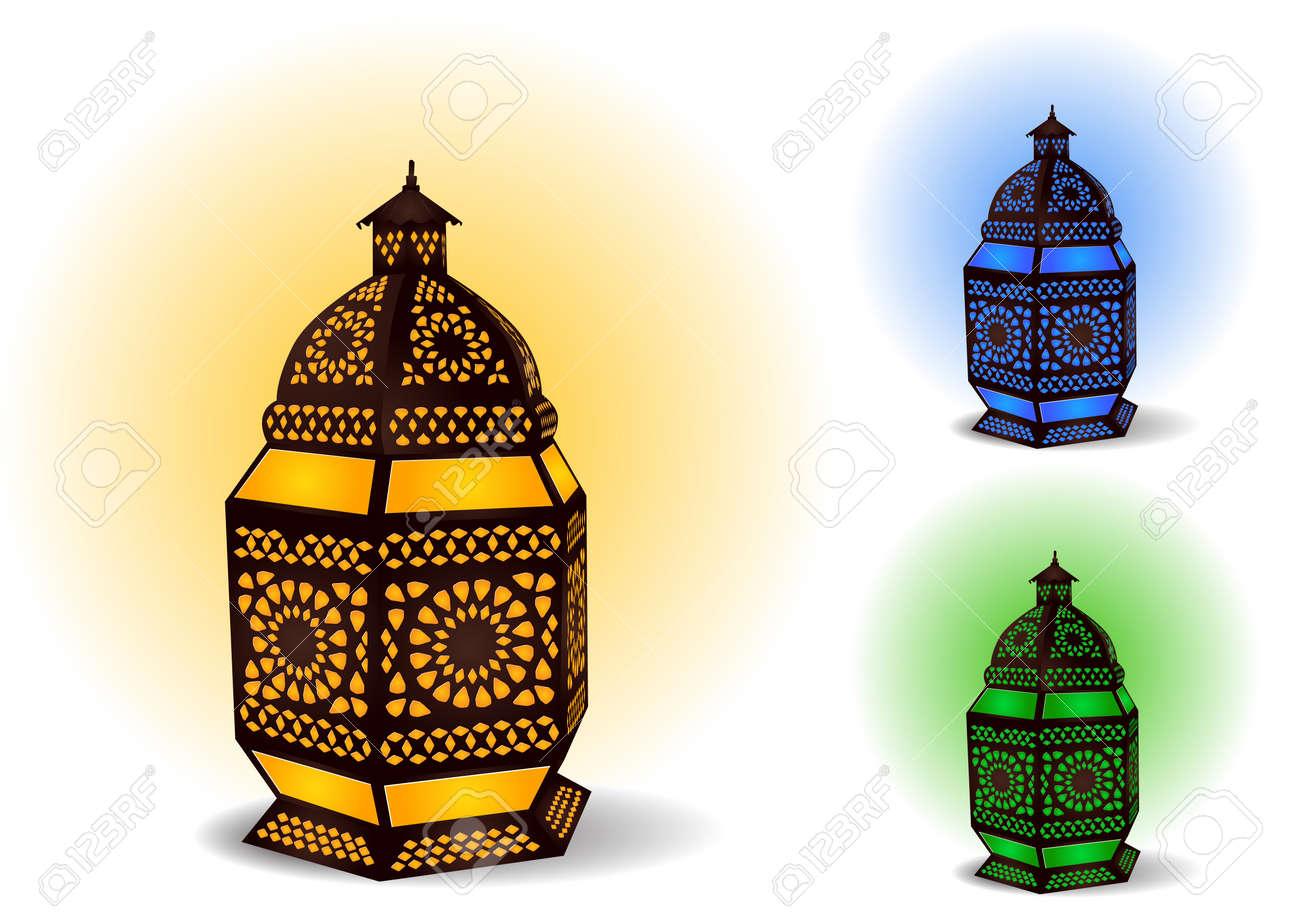 Islamic Lamp For Ramadan / Eid Celebrations Royalty Free Cliparts ... for islamic lantern clipart  110ylc