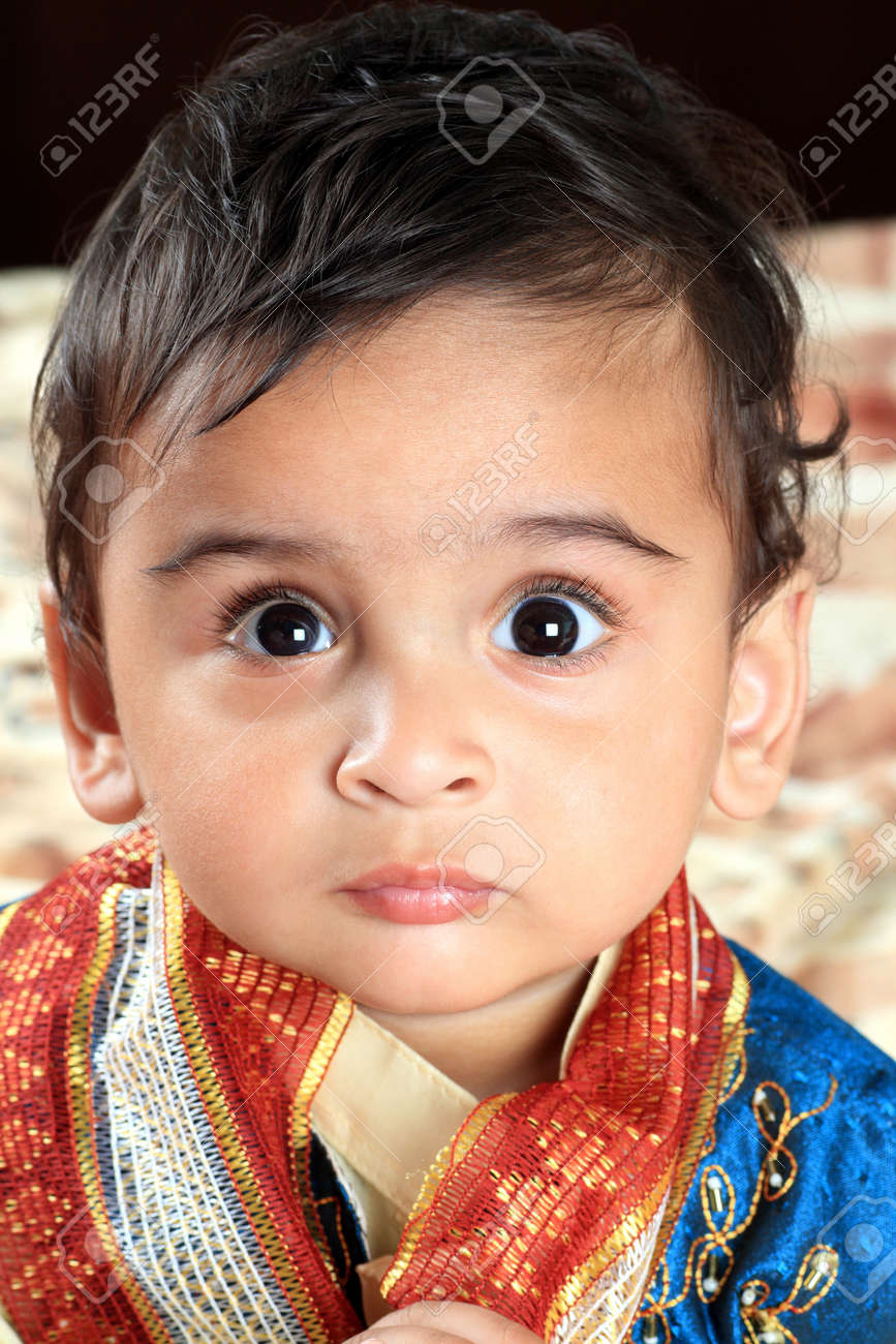 Indian Baby Boy in Traditional Indian Outfit Stock Photo - 17635876