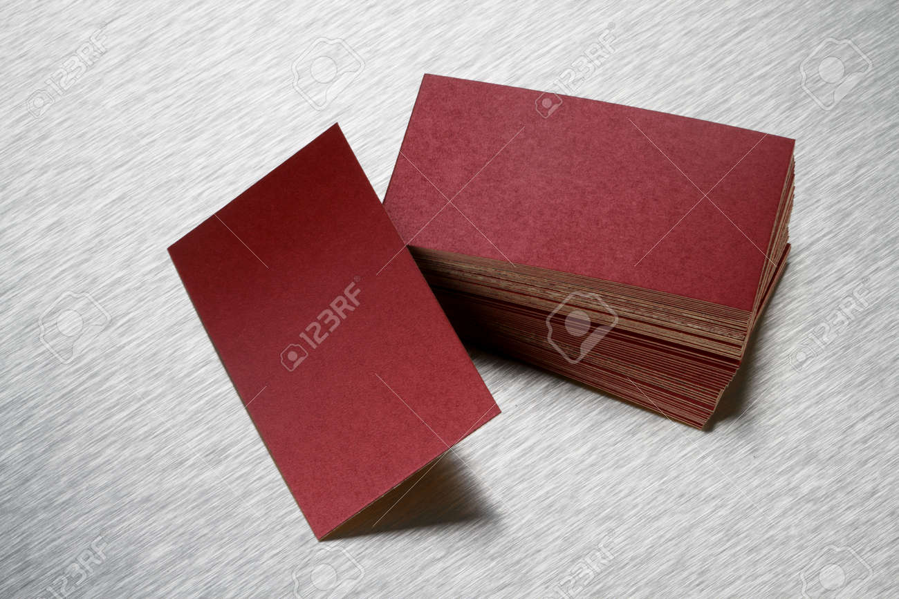 Blank Handmade Paper Business Card For Mockup Stock Photo, Picture ...