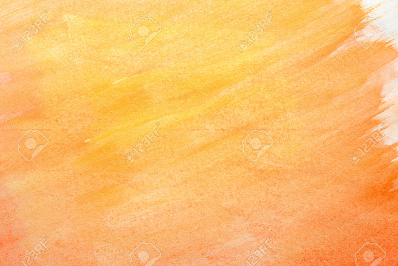 Abstract Orange Watercolor Art Hand Paint On White Background Watercolor