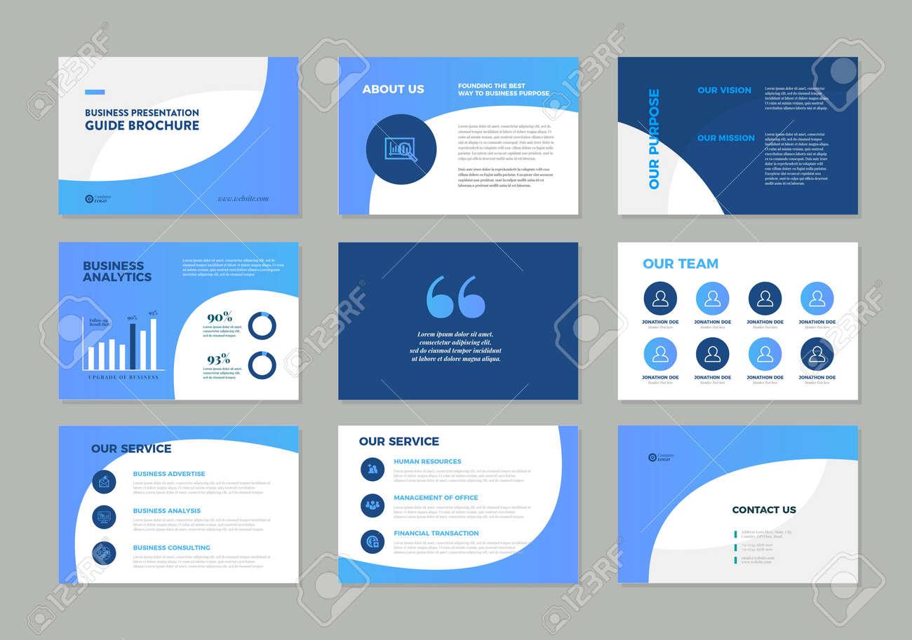 Business Presentation Brochure Guide Design , Slide Template , Sales Guide Slider - 146995056
