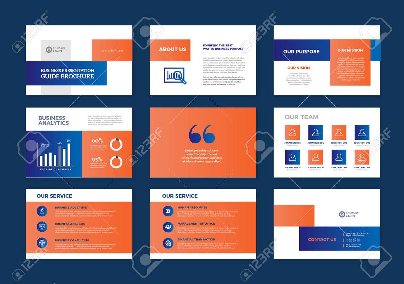 Business Presentation Brochure Guide Design , Slide Template , Sales Guide Slider - 146995057