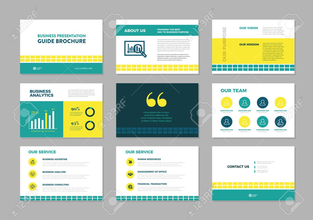 Business Presentation Brochure Guide Design , Slide Template , Sales Guide Slider - 146995058