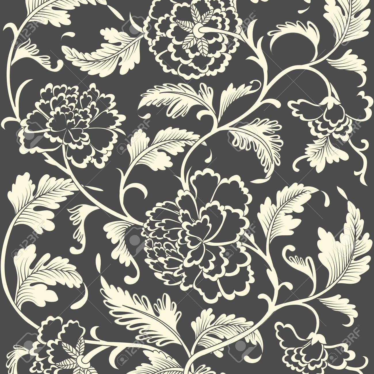 ornamental colored antique floral pattern vector illustration